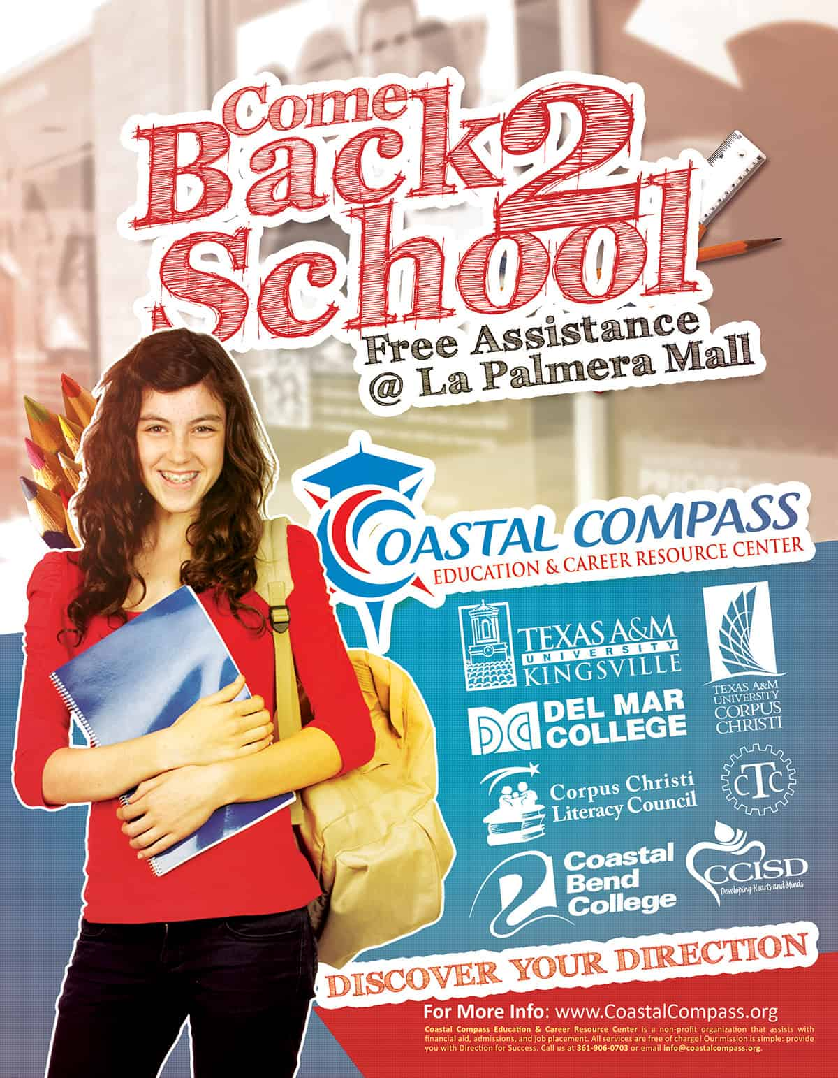 Coastal Compass Back To School Flyer