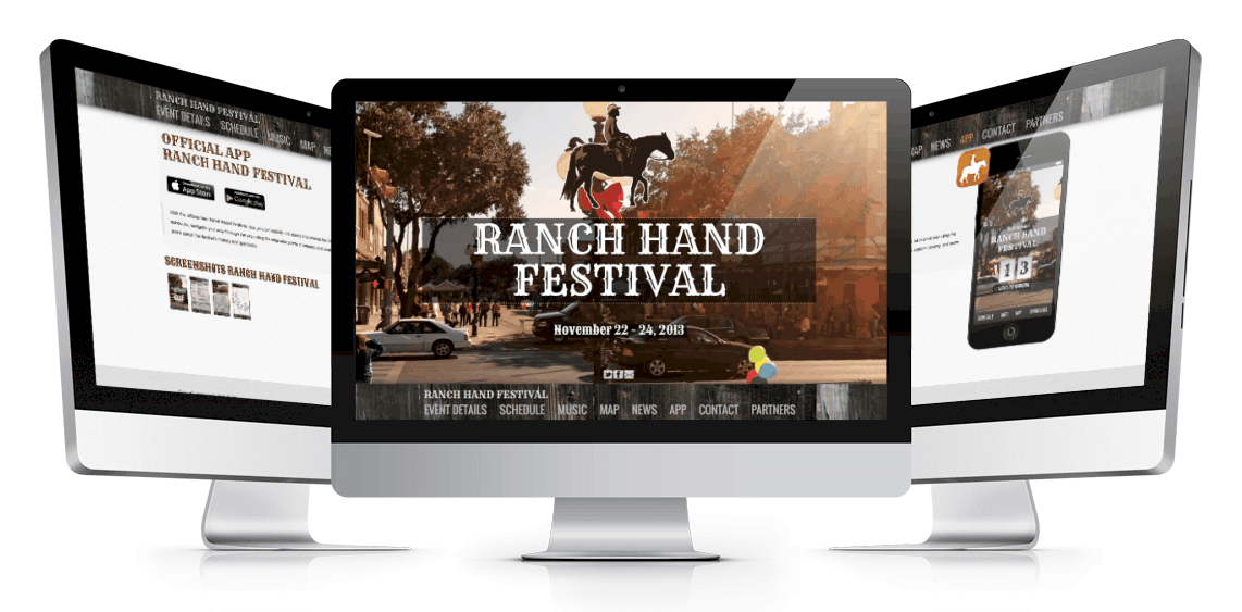 Ranch Hand Festival Website Mockup