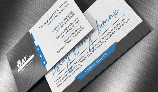 Bay Ltd. Business Card Design